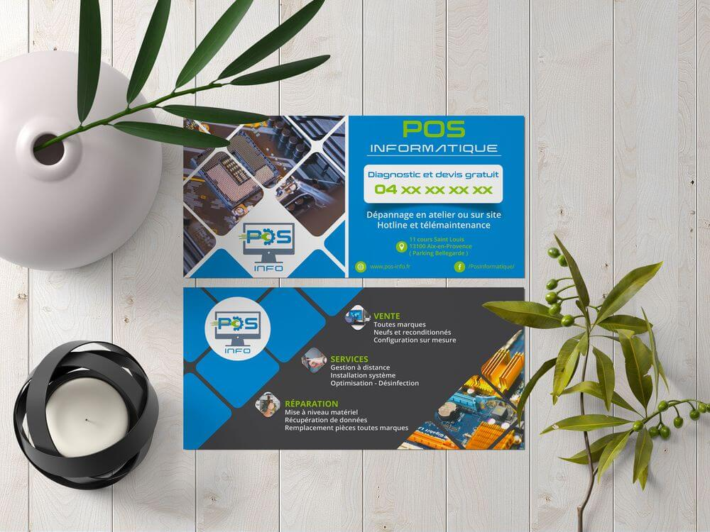 Création flyer POS Inofrmatique