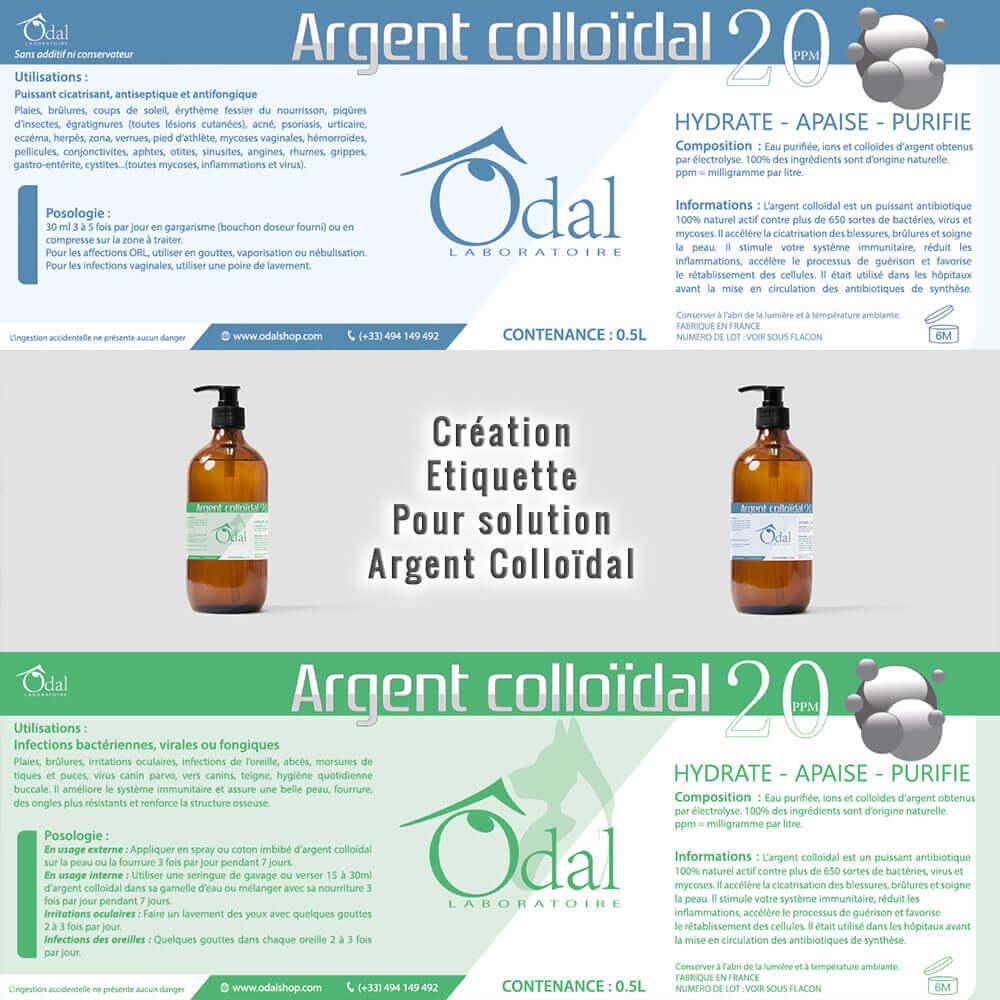 Création étiquette produit Argent Colloïdal