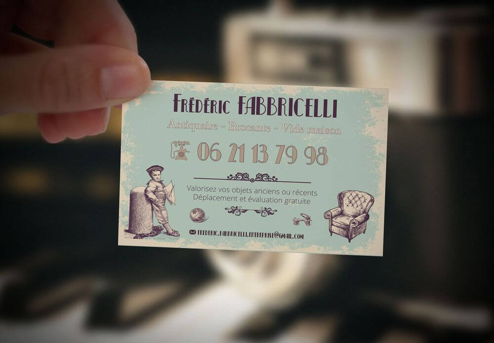 Création carte de visite Frédéric Fabbricelli
