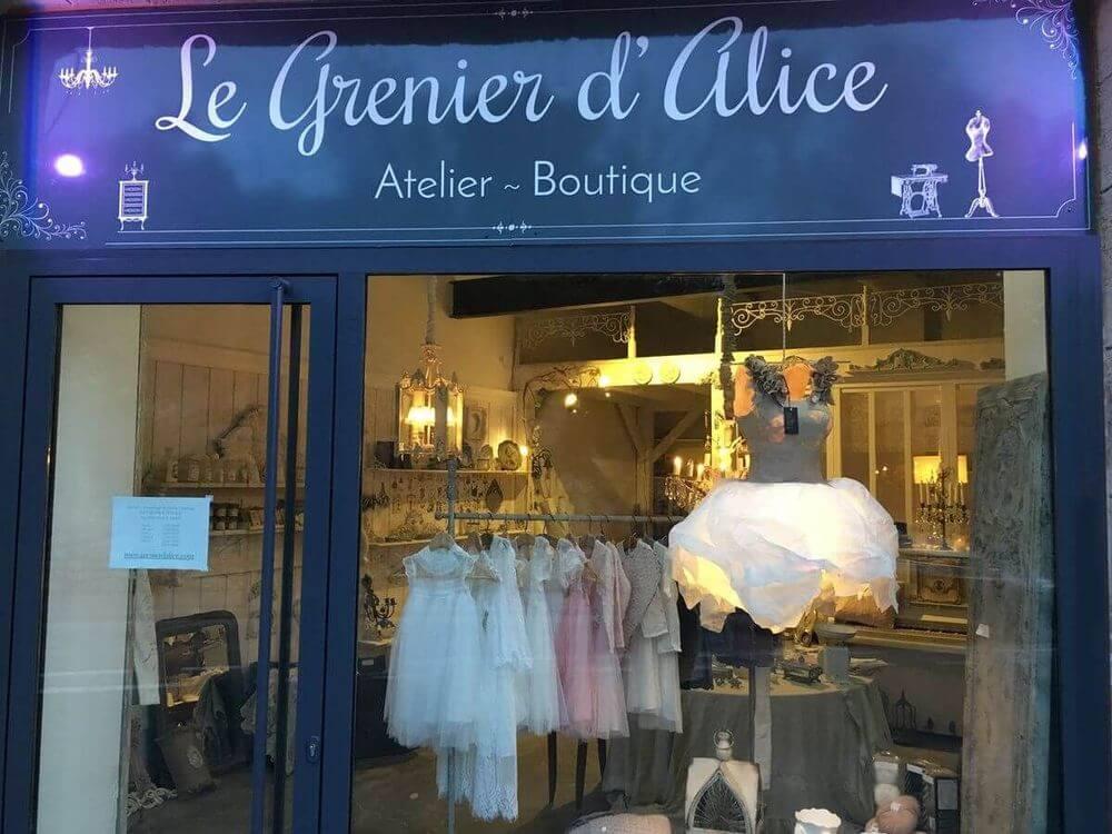Création enseigne boutique Le Grenier d'Alice
