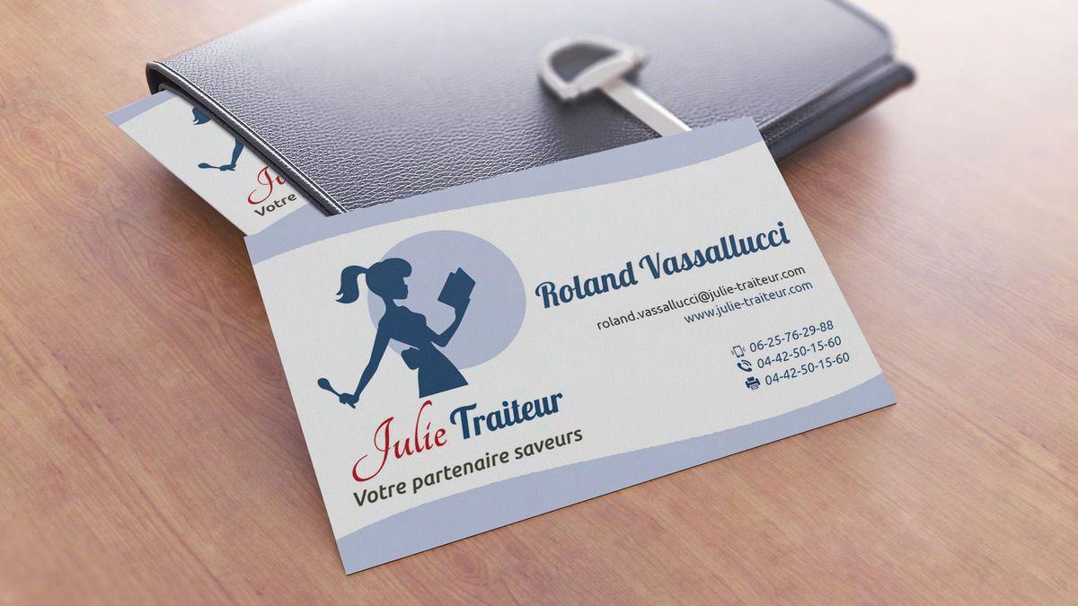 Création carte de visite Julie Traiteur