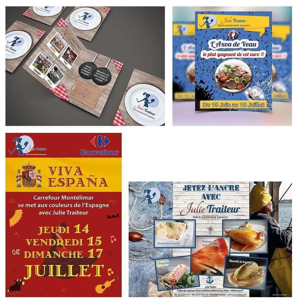 Création brochure et flyers Julie Traiteur