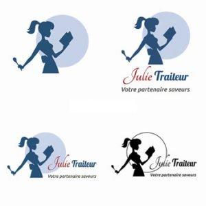 Création logo Julie Traiteur