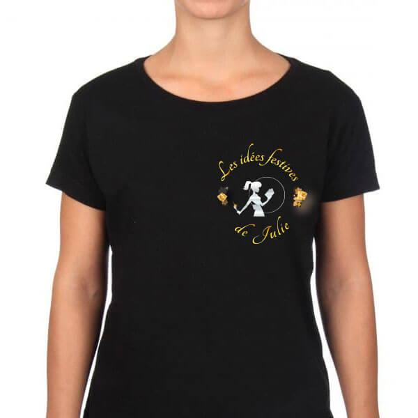 Création textile teeshirt pour Julie Traiteur