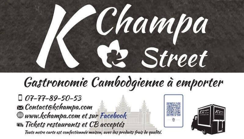 Création carte de visite Kchampa foodtruck