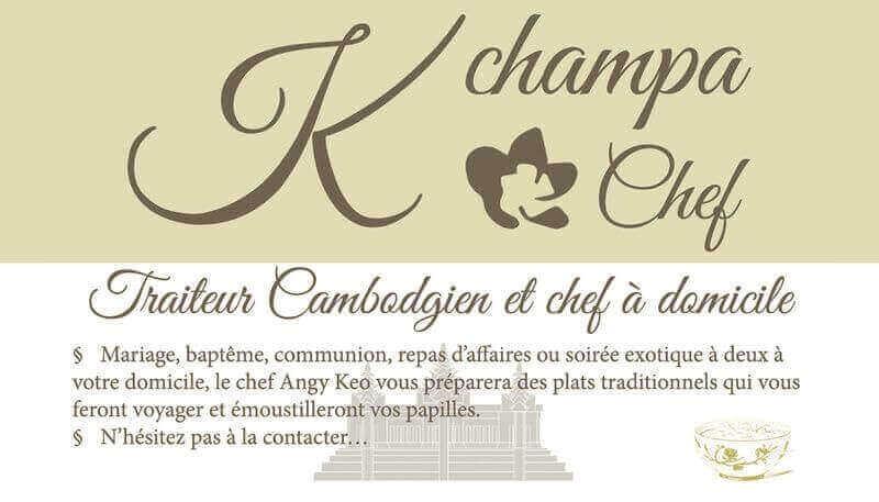 Création carte de visite Kchampa traiteur et chef à domicile