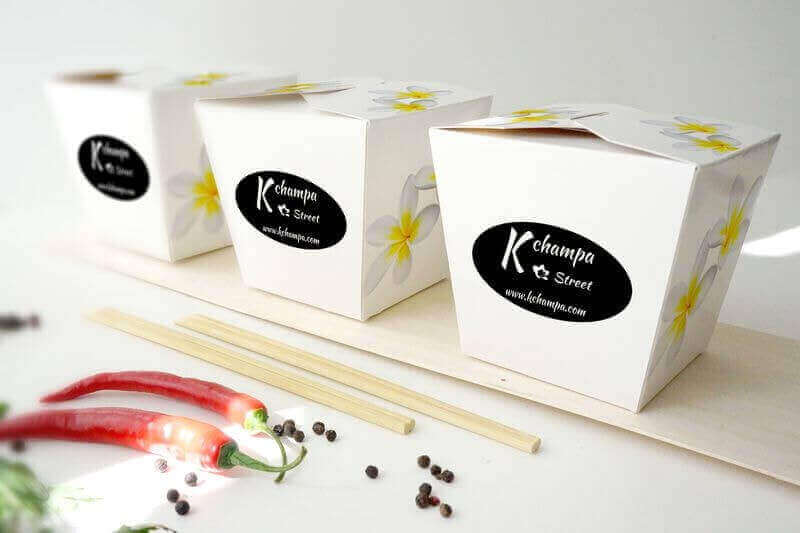 Création packaging Kchampa foodtruck