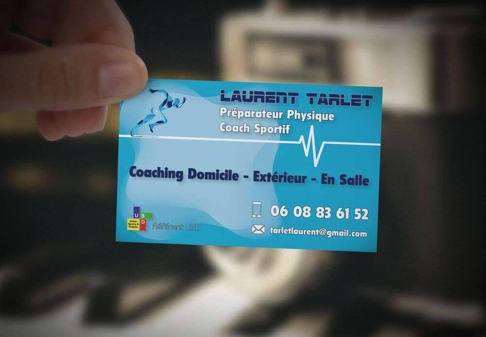 Création carte de visite Laurent Tarlet