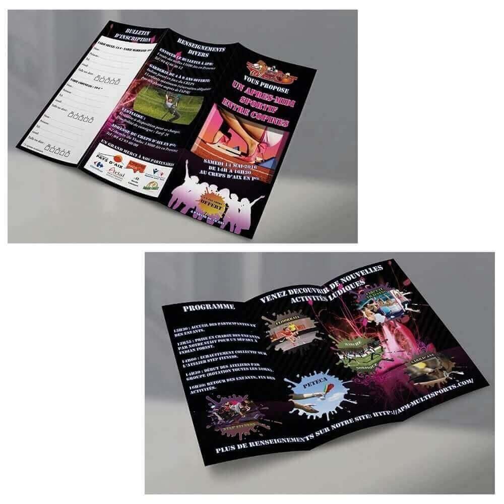 Création brochure événement sportif Laurent Tarlet
