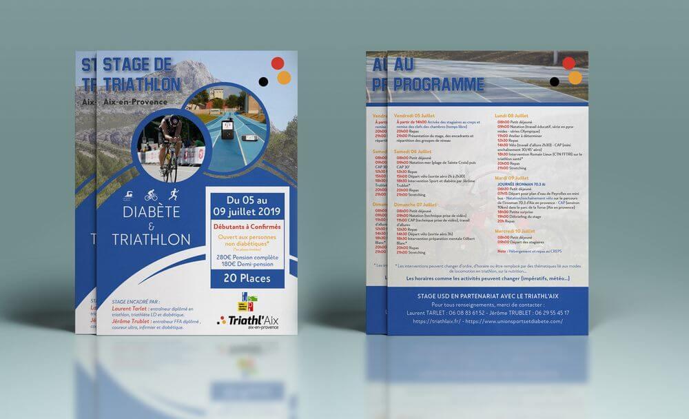 Création flyer événement sportif Laurent Tarlet