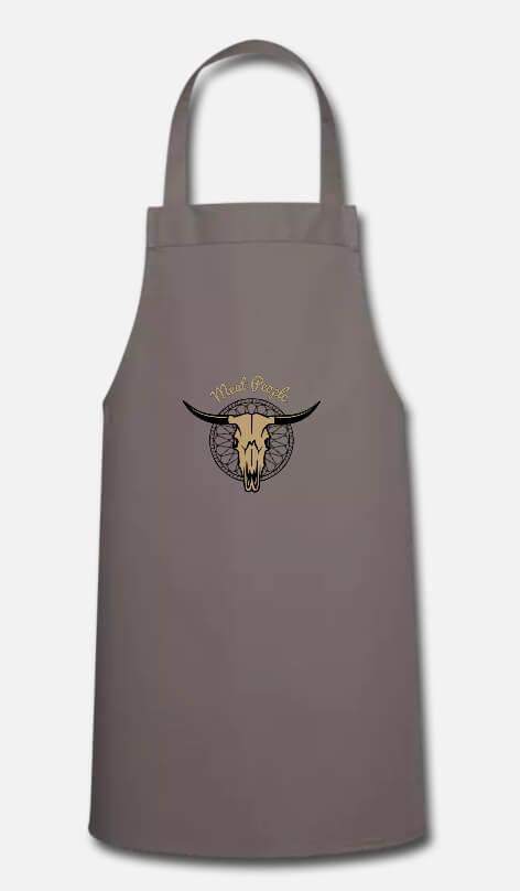 Création textile tablier Meat People