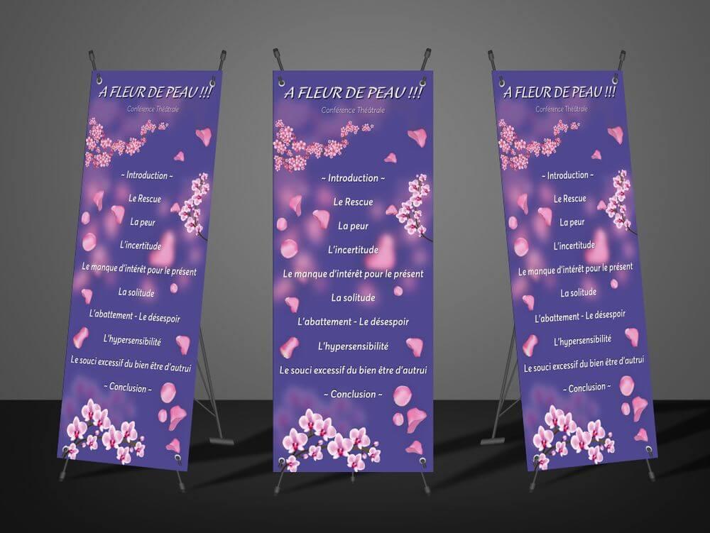 Création x-banner Corinne Arguelles