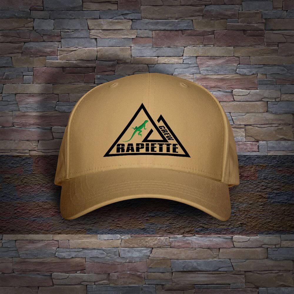 Logo sur casquette pour Rapiette Crew
