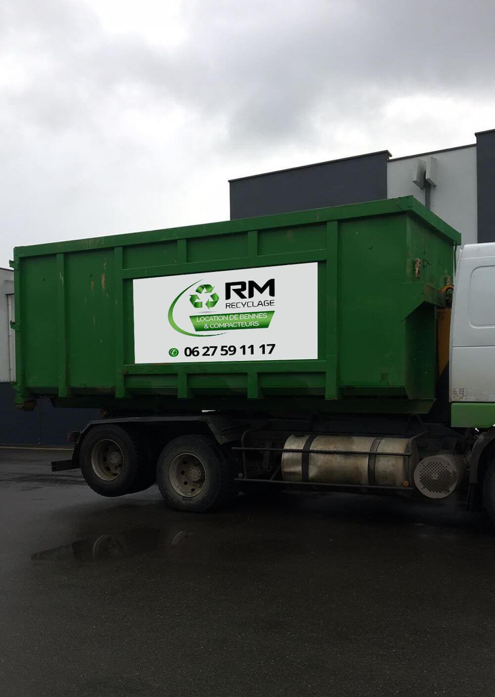Création sticker benne RM Recyclage