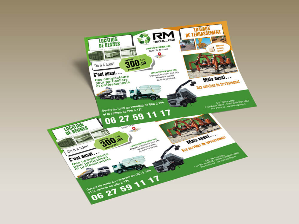Création flyer RM Recyclage