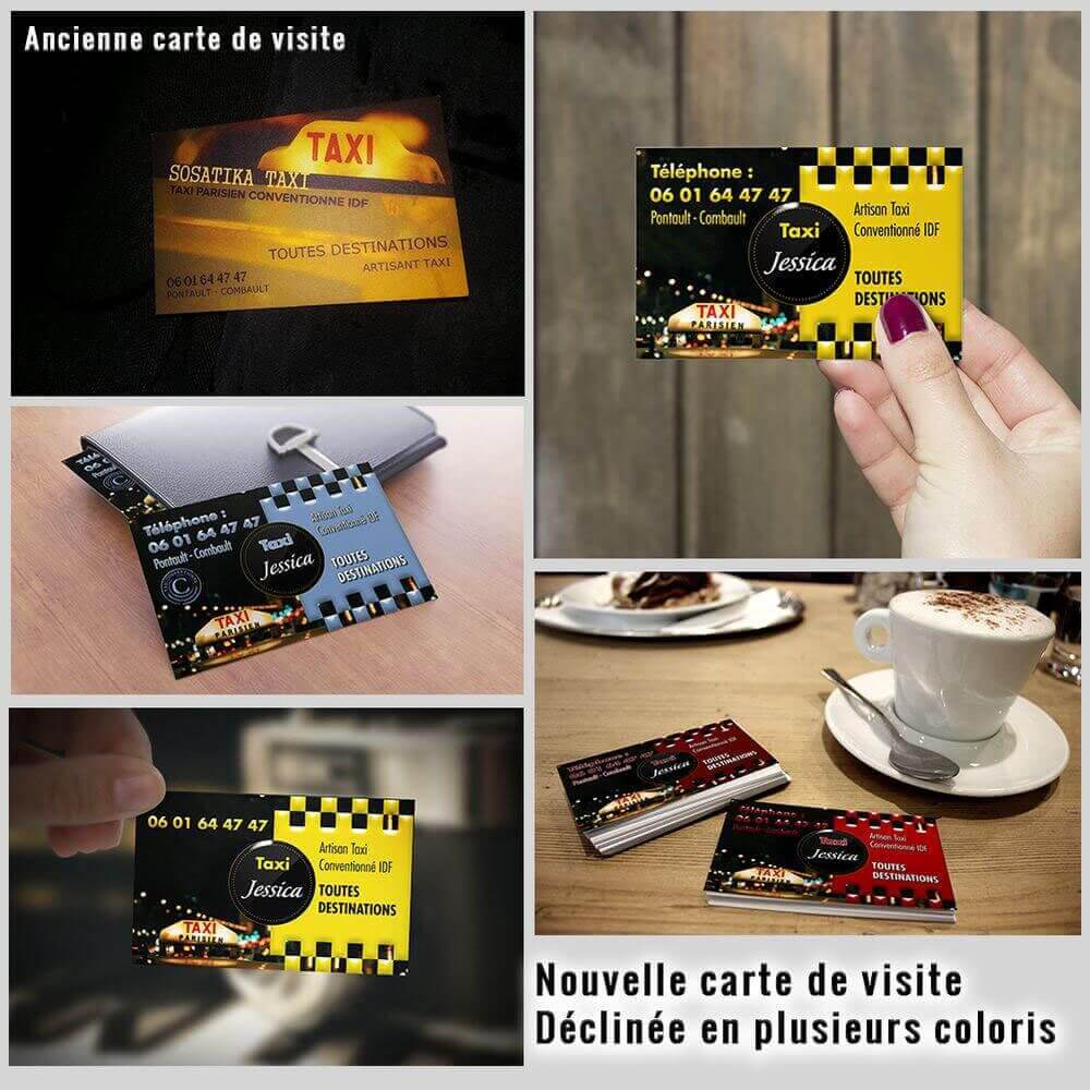 Création carte de visite taxi Jessica