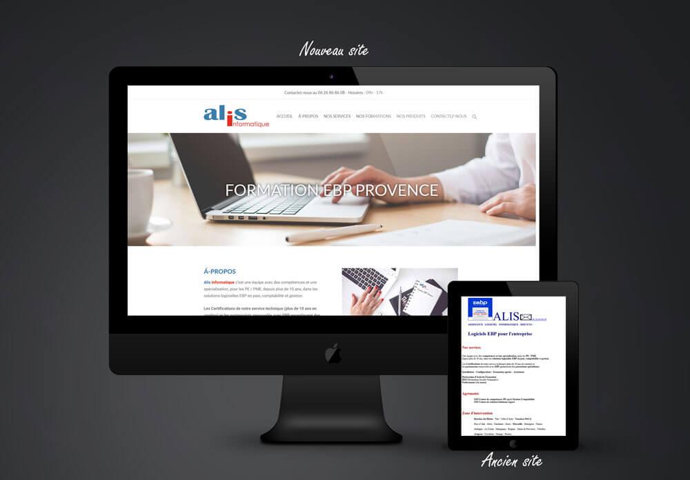 création site web formation ebp provence