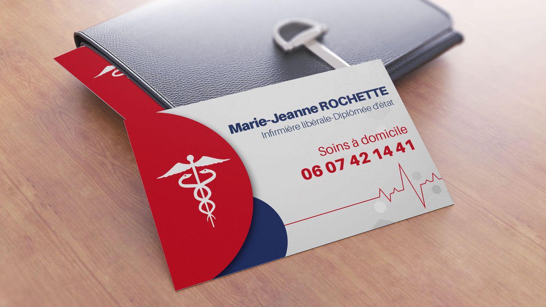 Jack Miles création d'une carte de visite pour une infirmière libérale